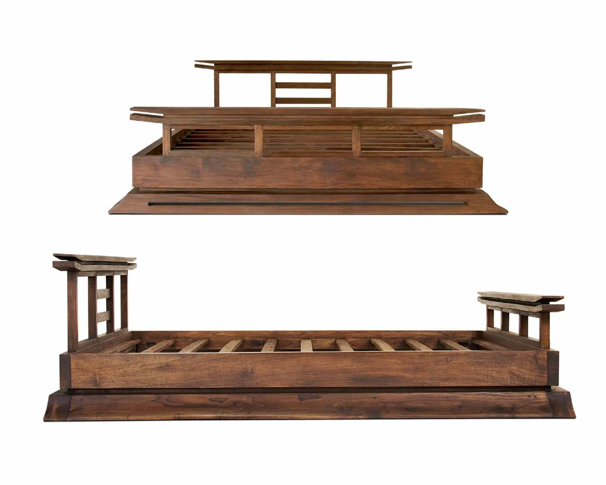 Kondo platform bed tansu asian furniture boutique for Traditional japanese furniture
