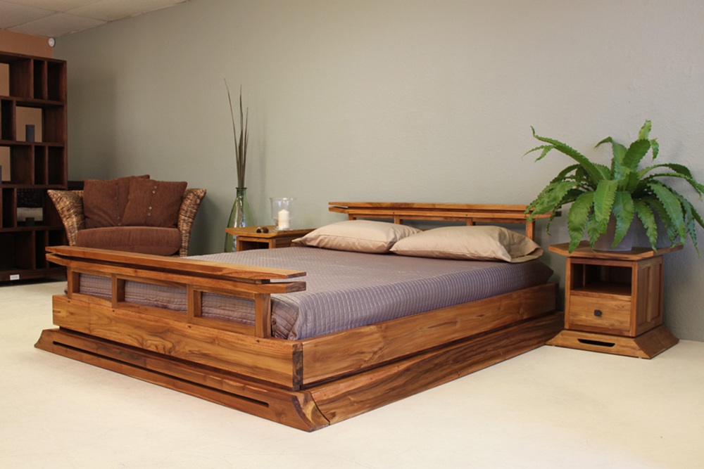 Kondo Platform Bed - Tansu Asian Furniture Boutique ...