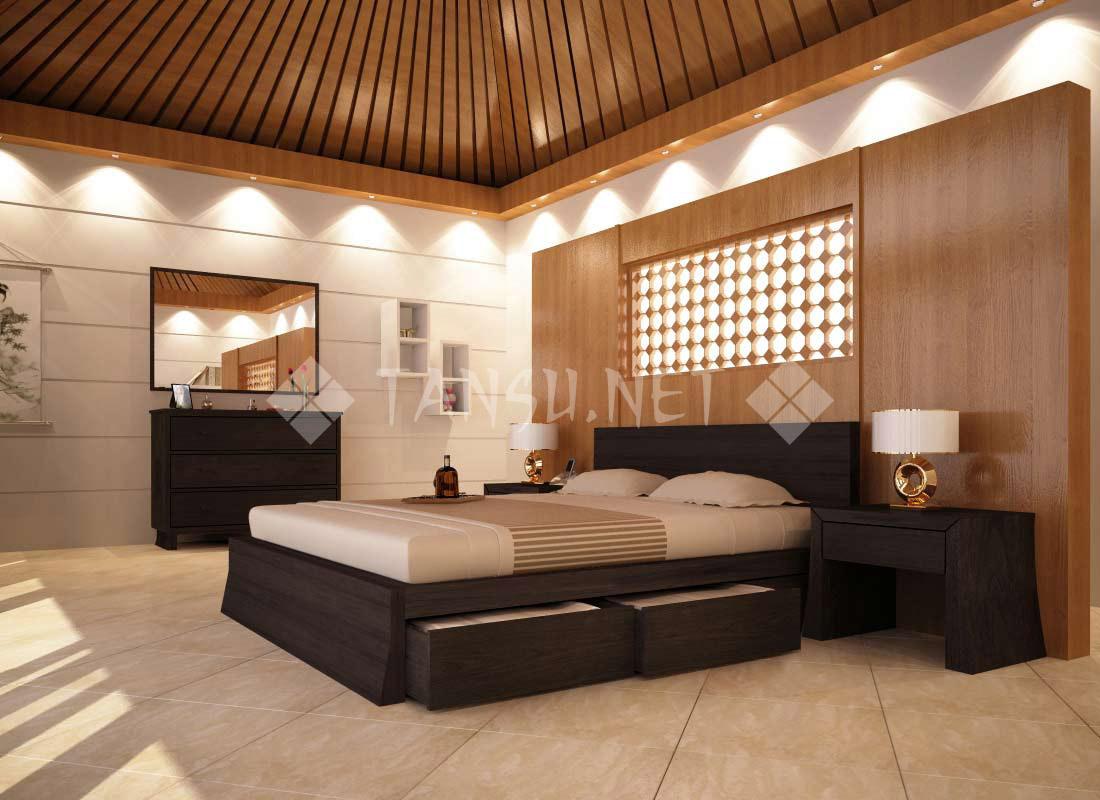 Cairo storage platform bed tansu net - Platform bedroom sets with storage ...
