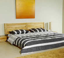 Barcelona Platform Bed with Storage Headboard